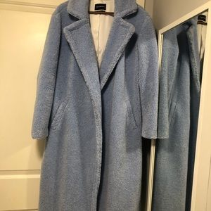 Something Navy faux teddy coat